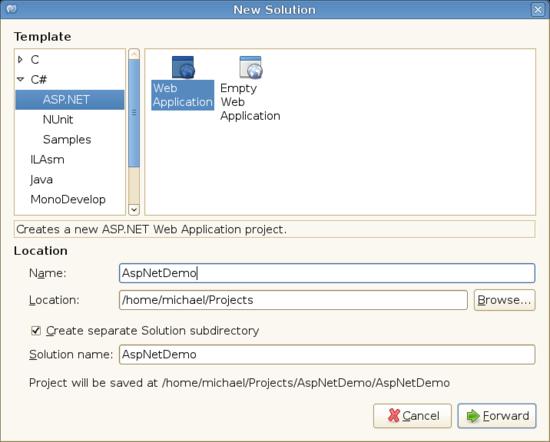 monodevelop linux compile